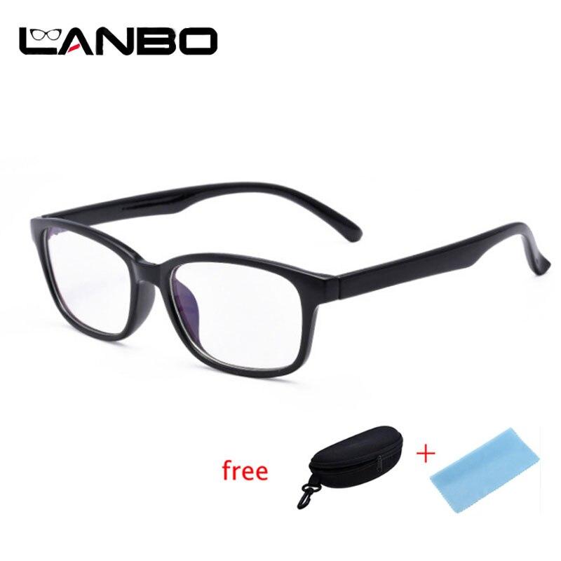 7870bb7a2c2f7 Armações de Óculos de computador Anti Radiação de Raios Azuis Das Mulheres  Dos Homens Armações de Óculos de Olho Quadrado PC Unisex Optical Óculos  Impressão ...