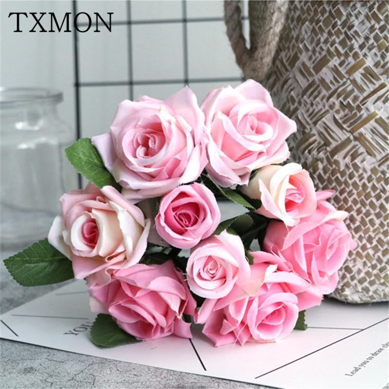 Моделирование Букет роз Искусственные цветы Цветочные Гостиная обеденный стол Кофе Украшение стола праздник Garden Hotel