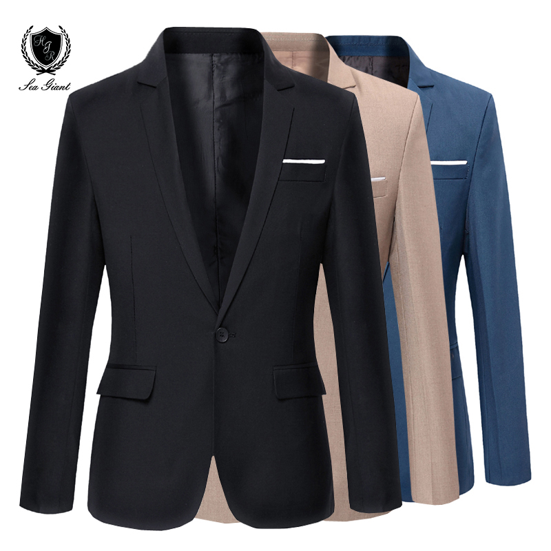New Mens Brand Blazer Korean casual Slim fit suit fashion jacket ...
