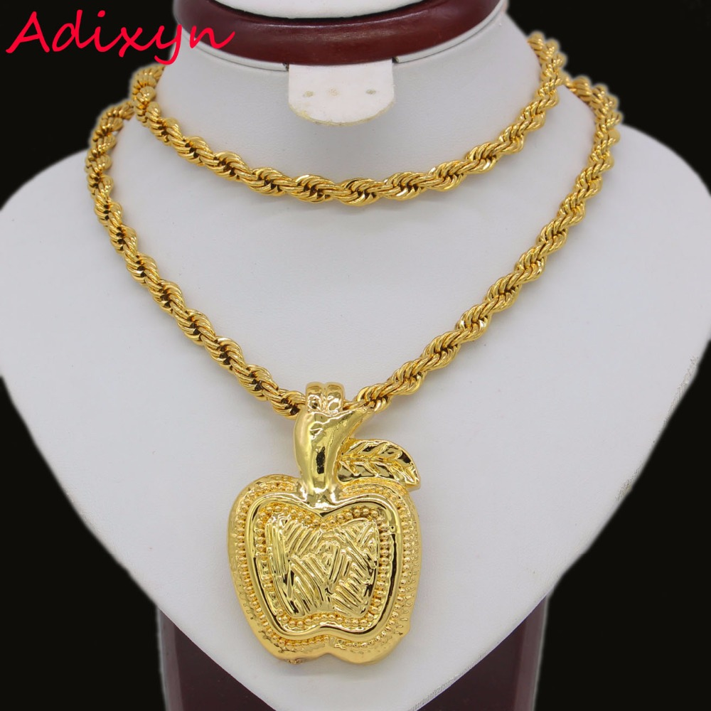 Nigerian Light Weight Apple Pendant Gold Color African