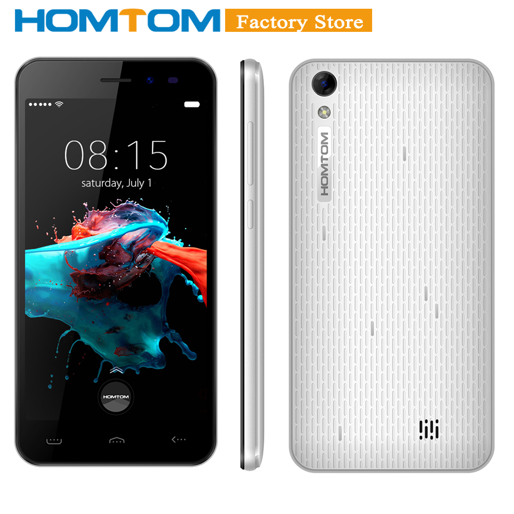 Original HOMTOM HT16 Smartphone 3G WCDMA Quad Core MTK6580 5.0 Inch Screen Smart Gestures Wake Gesture Power Saving Cellphone