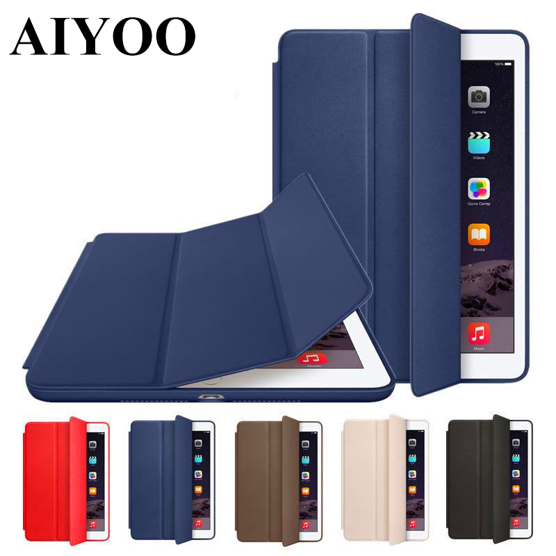 Smart Case for iPad 2017 2018 9.7 inch AIYOO Magnetic Stand Smart Cover PU Leather Case for iPad 2017 2018 New Model A1822+Gifts nice flexible tpu silicone case for apple new 2017 ipad 9 7 cover protect smart cover partner clear transperent bottom back case