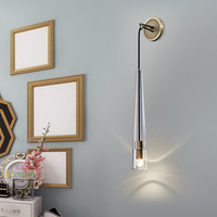 Nordic wall mounted crystal light mirror led lamp living room led wall lamp aisle modern crystal sconce wall lights bedside lamp
