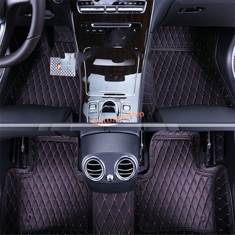 for Mercedes Benz C class W205 2014 2015 Right & Left Hand Drive Black Front Rear Floor Mat Carpets Pad cover