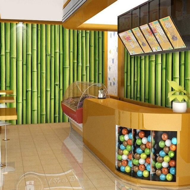 Beibehang Seamless 3D Stereoscopic Custom Bamboo Wall Covering Modern  Minimalist Restaurant Restaurant Dessert Tea Salon Relief