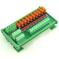 DIN Rail Mount 10 Position Power Distribution Fuse Module Board, For AC/DC 5~32V.