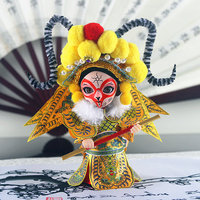 Chinese style Silk Figurine Q version Sun WuKong Monkey King handicraft Peking Opera dolls gift Z001