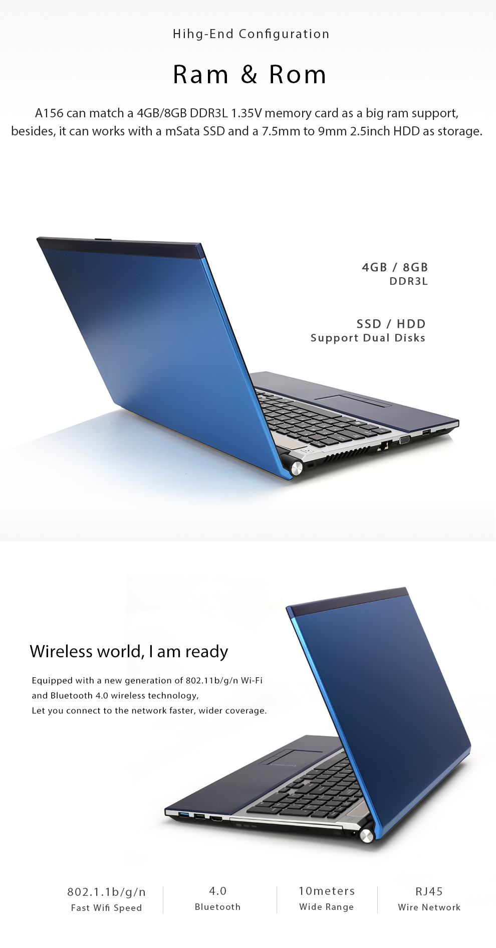 15.6inch intel core i7 8gb ram 500gb HDD 1920x1080 full hd screen  system with DVD ROM Laptop i7 8gb ram 500gb HDD black 7