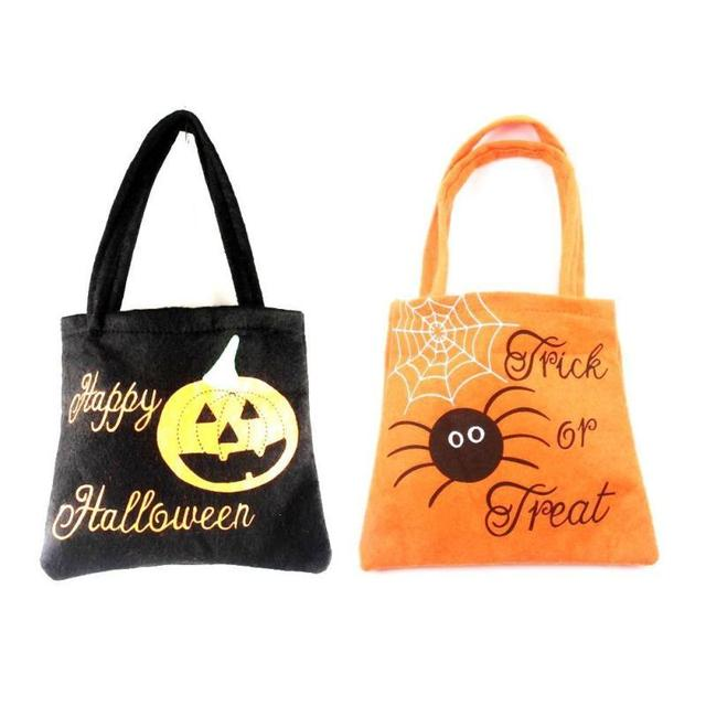 Happy Halloween Gift Candy Bag Non-woven Trick Or Treat Bag Toys Organizer  Pouch Hanging 25a7401bf256