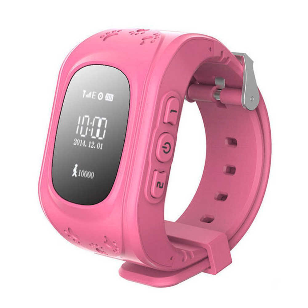 gps tracker watch smart watch anti disappear children smartwatch for android and iphone pink. Black Bedroom Furniture Sets. Home Design Ideas