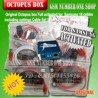 100% оригинал Новый Octopus Box для Samsung IMEI ремонт и разблокировка с 18 кабелей