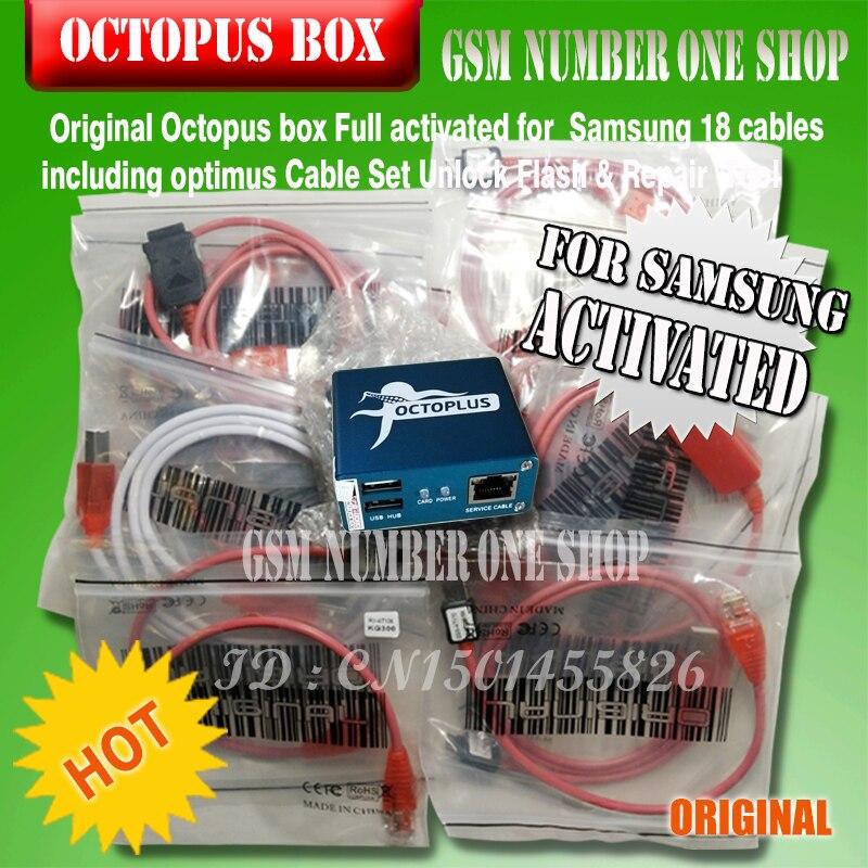 100% nouvelle boîte de poulpe d'origine pour Samsung imei réparation et déverrouillage avec 18 câbles