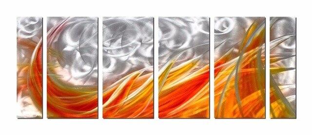 Originele moderne aluminium muur abstracte metalen for Schilderij op aluminium