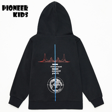 Pioneer Kids New 2016 children clothing Sport Boys clothes 100 Cotton solid color hooded sweaters boys