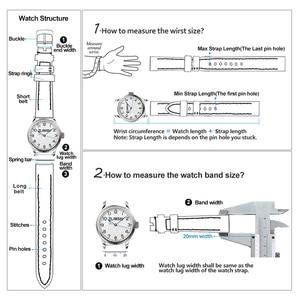 Image 4 - ZLIMSN Double Crocodile Skin Strap Quick Installation Brown Black for Mens Women Luxury Watch Band Size 18mm 20mm 22mm