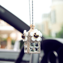 Crystal Fashion Pingente de Espelho Retrovisor Do Carro Ambientador Perfume Difusor Quarto Banheiro Pendurado Ornamento