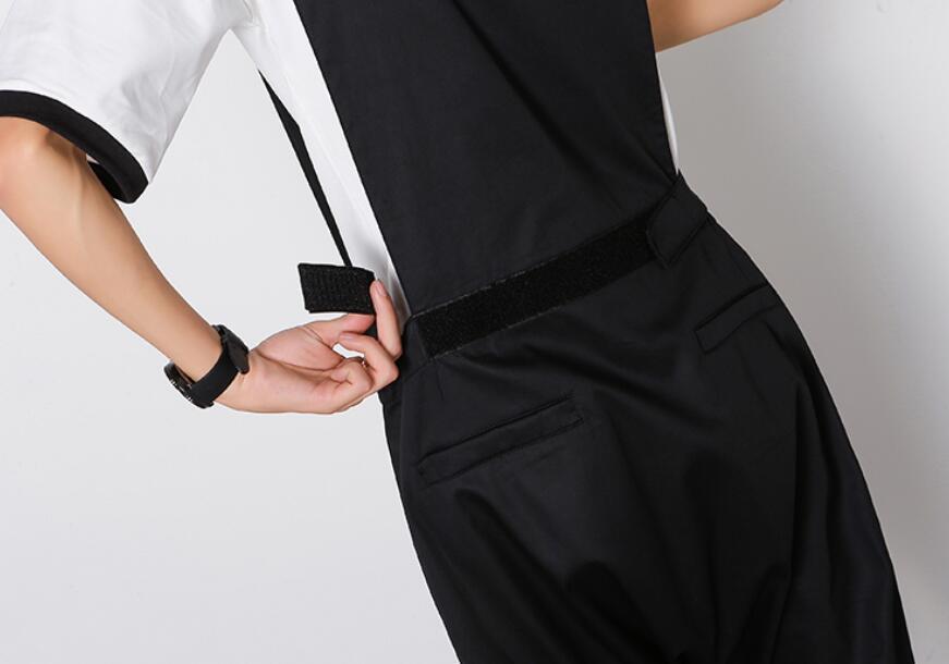 Mono Verano Casuales Estilista Hombre Hip Trabajo Ropa Hop De Para Pantalones Harem Black Trajes TfAqxTwr5