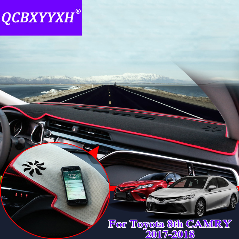QCBXYYXH For Toyota 8th Camry 2017 2018 Dashboard Mat Protective Interior Photophobism Pad Shade Cushion Car