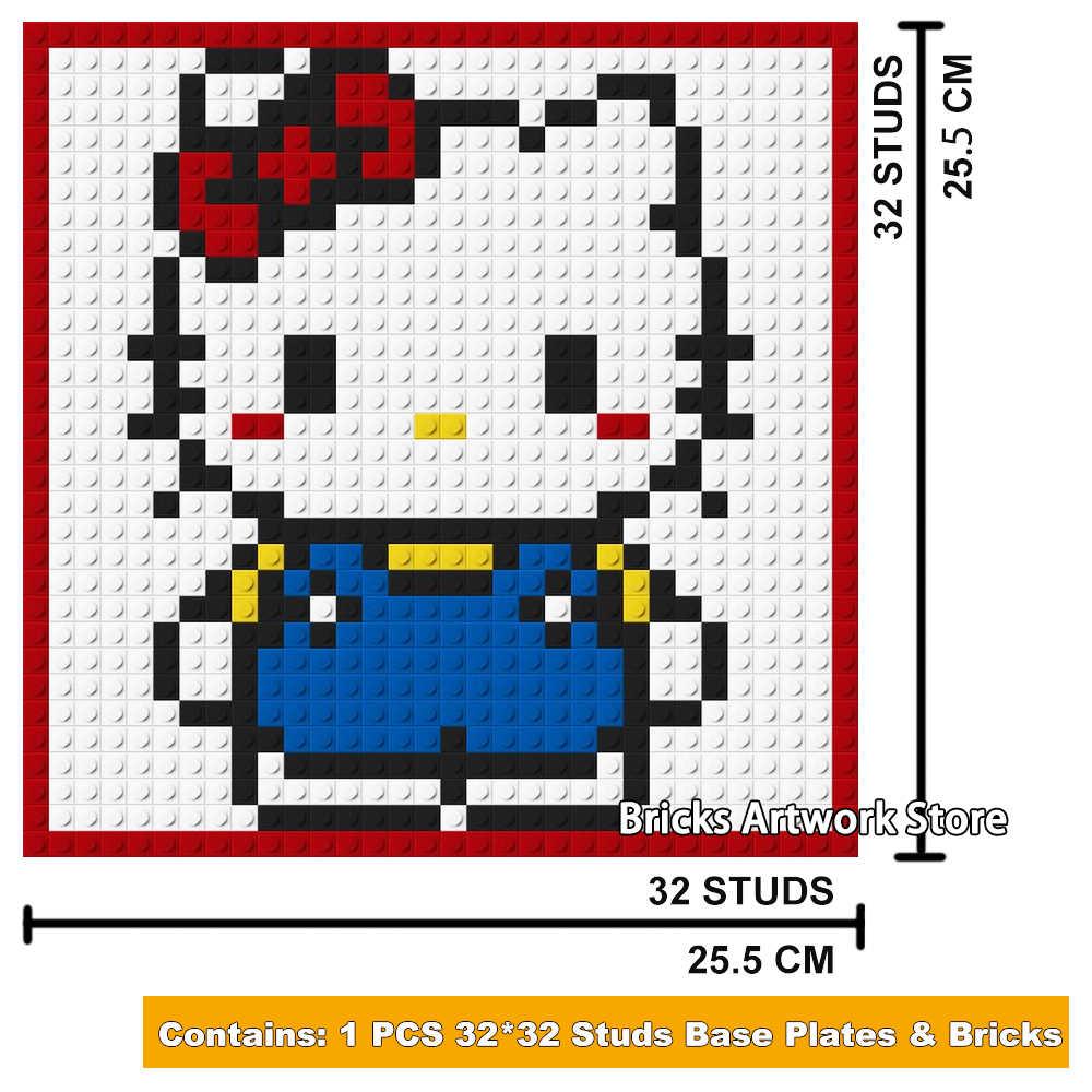 3232 Plate Pixel Art Mosaic Painting Set Diy Cartoon