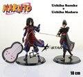 """Frete grátis 2 pcs 7 """" Naruto Anime Uchiha Sasuke + Madara Pair Set 12º 18 cm PVC Action Figure modelo boneca brinquedos ( 2 pcs Set )"""