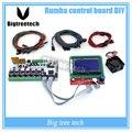 Rumba BIQU placa de controle DIY + display LCD 12864 controlador + jumper + DRV8825 Stepper motor driver para reprap impressora 3D