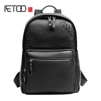 AETOO 2018 latest men's first layer leather shoulder bag urban casual backpack hot boutique men's bag wholesale