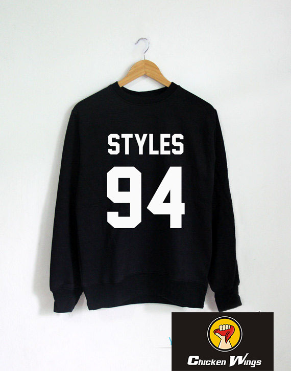 Harry Styles Sweatshirt STYLES 94 Long Sleeve Crewneck Sweatshirts tumblr Unisex Women Men shirts Clothing E023 in Hoodies amp Sweatshirts from Women 39 s Clothing