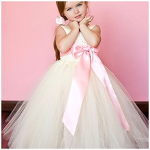 Flower Girls Wedding Dress Pageant Dress Party Girl Dresses Size 3-10 Summer Bow-knot Princess Dress berngi flower girls dress princess wedding pageant diamond sequined gown lace party dresses layers flower girl clothes size 3 14