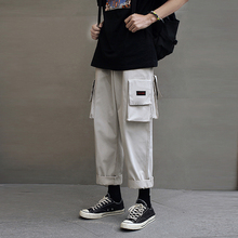 Summer New Youth Pop Casual Loose Large Code A Hundred Take Overalls Big Pocket Multi-color Joggers Streetwear