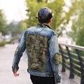 Los hombres originales de diseño de Otoño de nueva Hot casual camuflaje costura chaqueta vaquera motocicleta EE.UU. calle Hip Hop Punk capa juventud