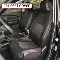 Dewtreetali Black Auto Car Seat Covers Universal PU Leather Automobiles Seat Covers Car Styling For KIA
