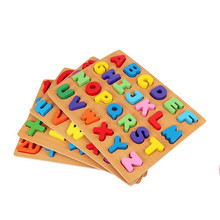 Купить с кэшбэком New Wooden Baby Toys Numbers and letters Baby Jigsaw Puzzle Baby Educational Toys