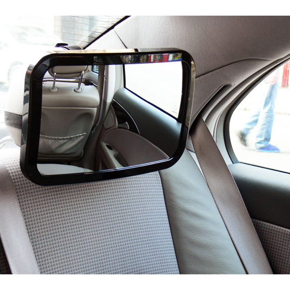 New Adjustable Car Back Seat Mirror Baby Facing Rear Ward View Headrest Mount Mirror Square Safety Baby Kids Monitor