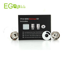 Electronic Cigarette Original SMOK TFV4 Mini Back Up Kit Replacement Glass Tube 0.3ohm 1.8ohm Clapton Dual Core Fit R200 mod