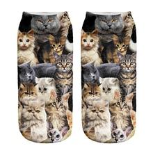 1 пара, милые хлопковые носки для детей с принтом щенков и кошек, Meias Calcetines Bebe, короткие носки с 3D рисунком, длина 19 см