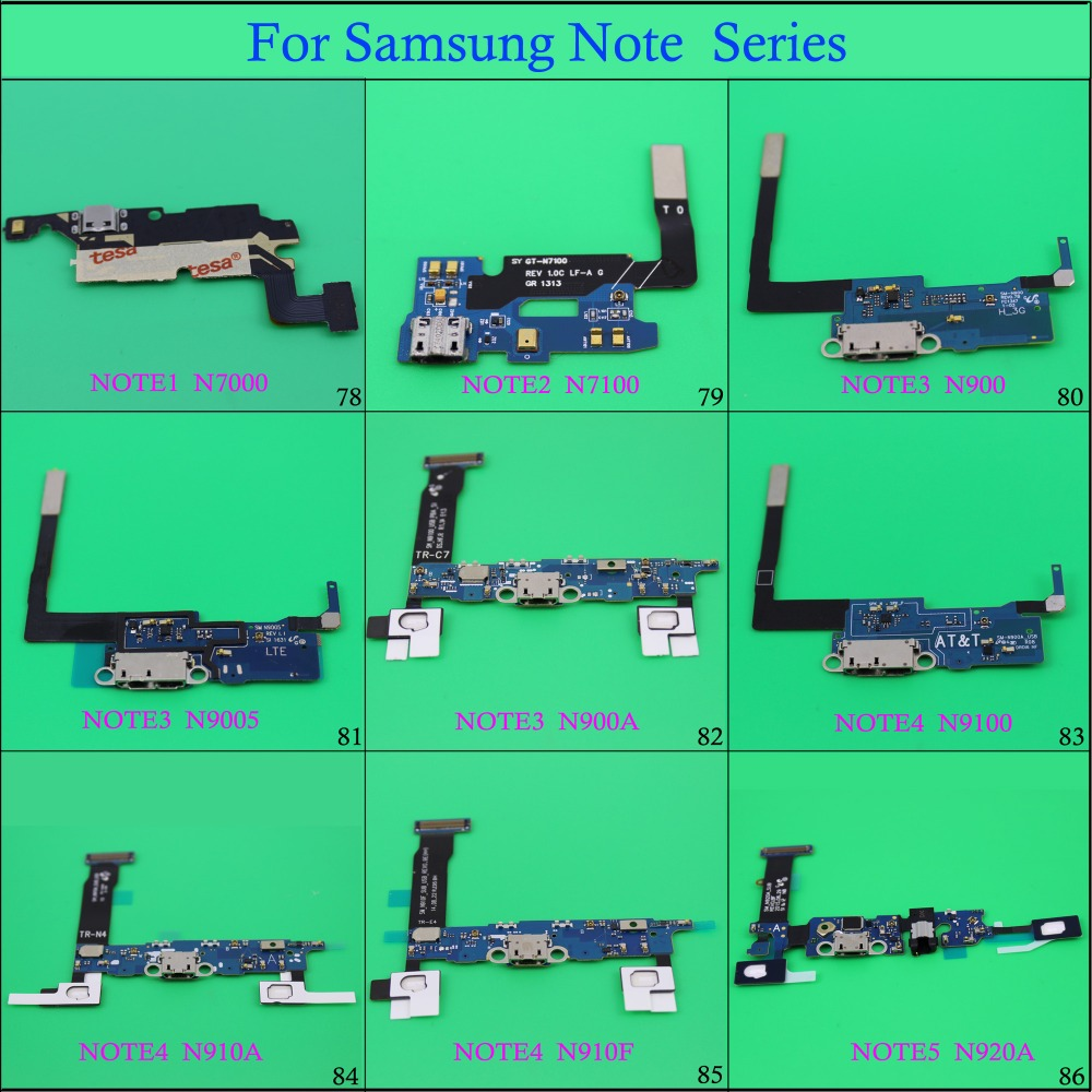 YuXi Micro USB <font><b>Jack</b></font> PCB Board for Samsung Note1/2/3 Note4 Note <font><b>5</b></font> Charging Port Flex Cable Dock N7000 N7100 N900 N900A N9100... image