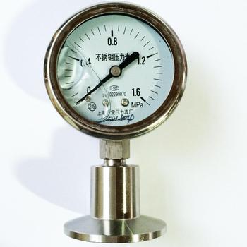 YTPMF-60BF/MC 0-1.6 stainless steel sanitary diaphragm pressure gauge pressure gauge factory in Shanghai