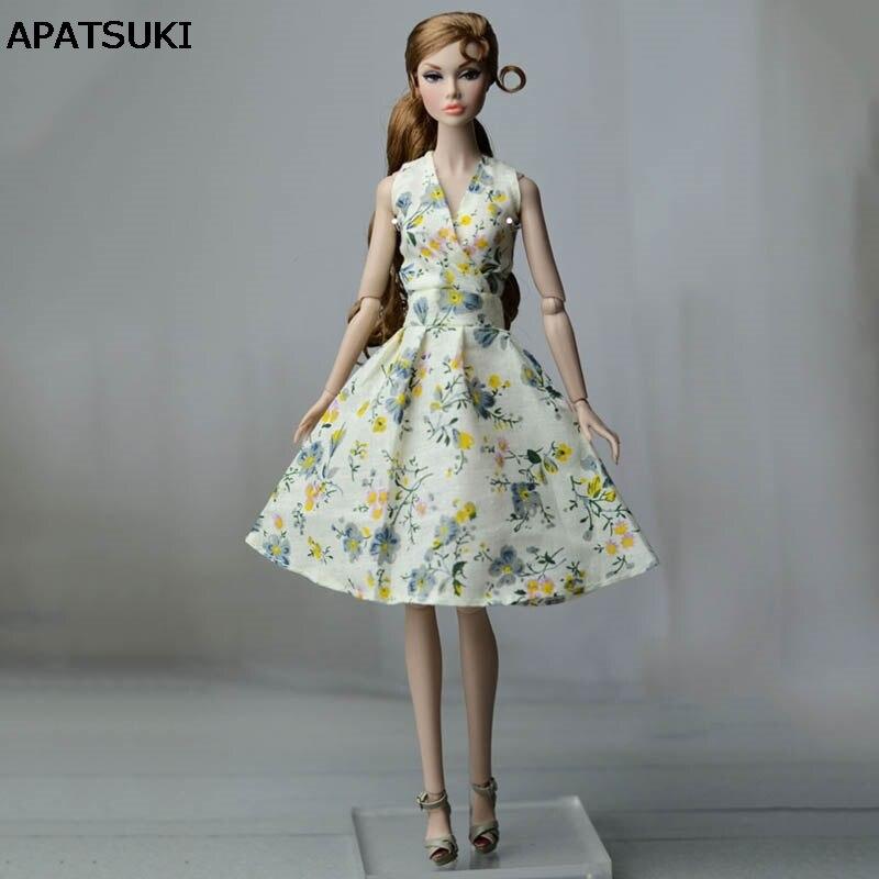 premium selection 3d398 6e4c8 Verde Campagna Floreale Abito Per La Bambola di Barbie Vestiti Da Sera  Abiti Vestiti Per Le Bambole Barbie Abiti 1/6 Accessori della Bambola