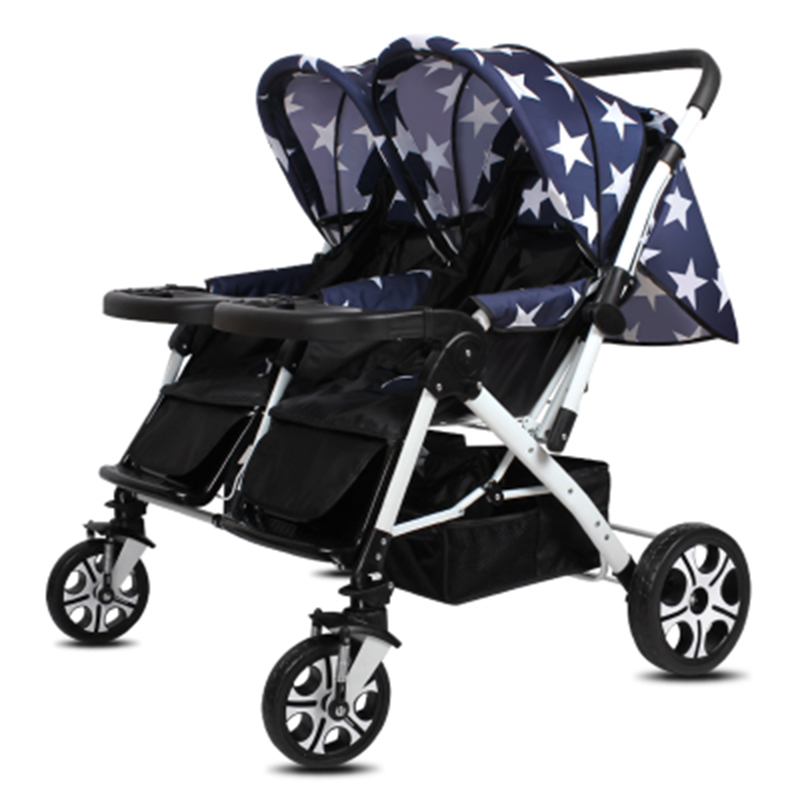 Twin baby stroller can be split to sit lie lightweight ...