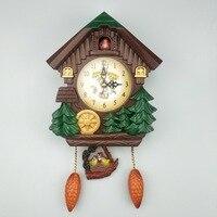 Creative cuckoo clock wall clock Full point music Bird Alarm Clock Children Decorations Home Day Time Alarm