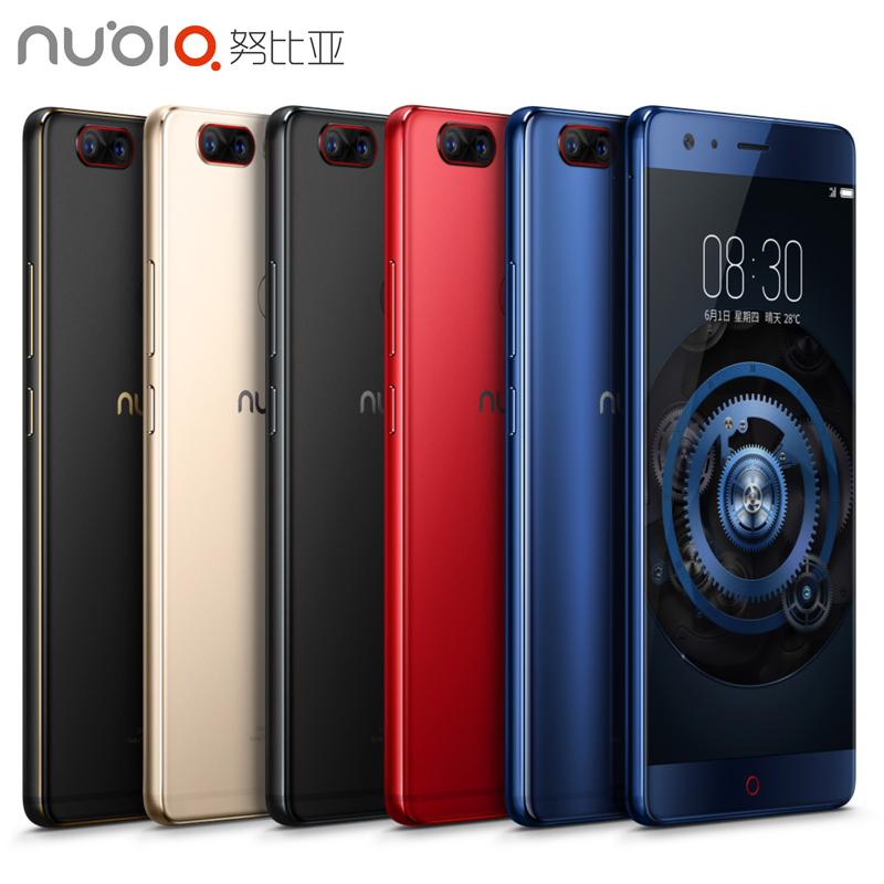 "Original Nubia Z17 Cell Phone 5.5"" Screen 6/8GB RAM 64/128GB ROM Snapdragon 835 Octa Core Android 7.1 OS Daul Camera Smarthpone"