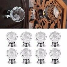 4 шт./8 шт./16 шт. 30 мм Алмазная форма дизайнерские Хрустальные стеклянные ручки для шкафа выдвижной ящик для кухонного шкафа дверные ручки для шкафа фурнитура