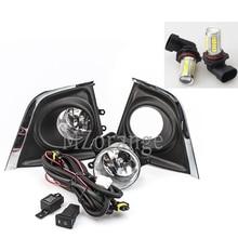 цена на LED Fog Lights For Toyota Corolla 2014 2015 2016 1 pair Front bumper Fog lamps headlight headlights LED DRL Fog light foglights