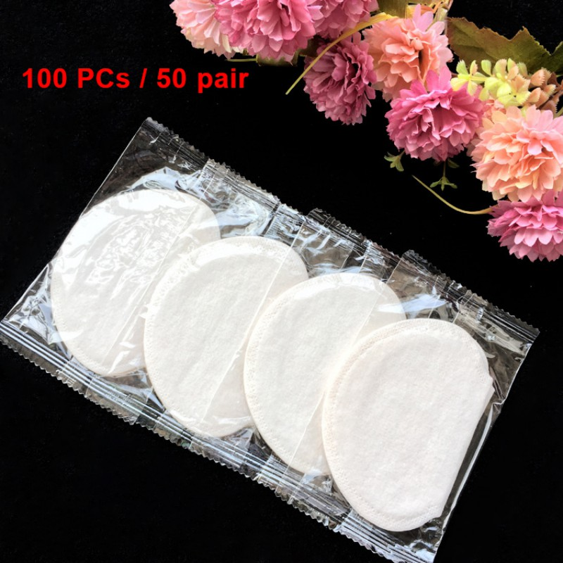 50 Packs Ultra Thin Sweat Pads Deodorants Sticker Disposable Anti Sweat Patches For Men And Women