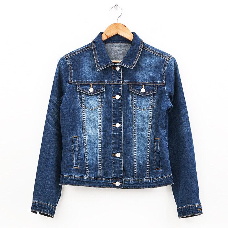 2020 LEIJIJEANS Women jeans jacket coat Bleach Full Sleeves Single Breast Slim Women Denim Jacket 10