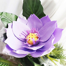 Giant Foam Flowers Large Lotus Head Diy Home Wedding Party Photography Background Wall Stage Decoration Fashion Purple