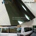 Nuevo Diseño de la Película de La Ventana Del Coche con 50*300 CM/LOT por el envío shippingicker Adhesivo Película del Vinilo del Tinte de Oliva verde