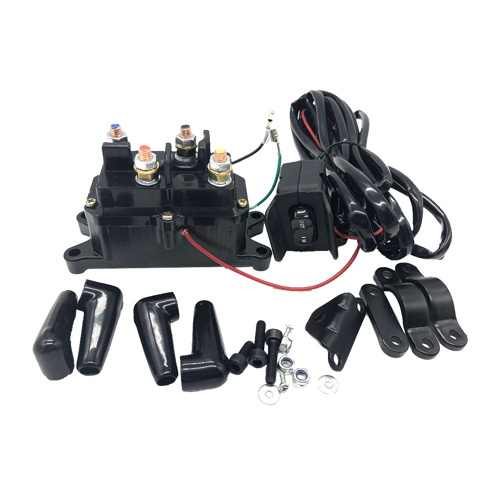 12VDC ATV UTV Solenoid Relay Contactor Winch Rocker Thumb Switch Wiring Combo Convenient Power