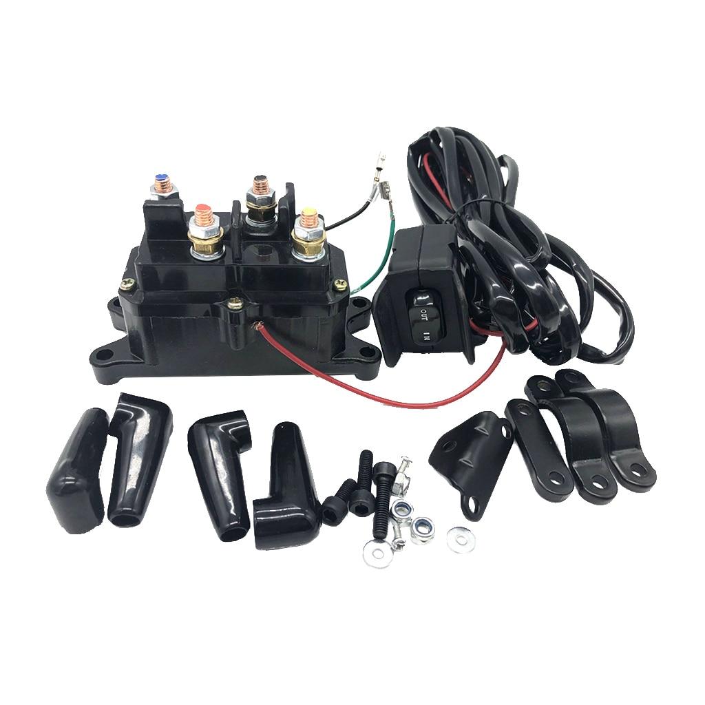 Contacteur de relais de solénoïde de 12VDC ATV UTV + puissance commode combinée de câblage d'interrupteur à bascule de treuil