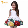 TWINSBELLA 3-9Y Girls Princess Dress 2017 Summer Children Sleeveless Flower Dresses Kids Floral Print Party Dresses For Girls